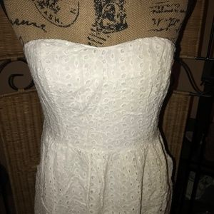 Poetry Dresses - Poetry White Eyelet Strapless Sundress